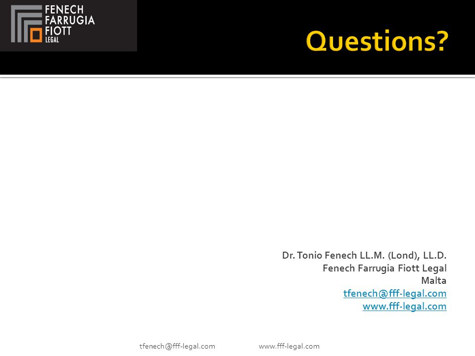 Dr.Tonio Fenech LL.M. (Lond), LL.D.