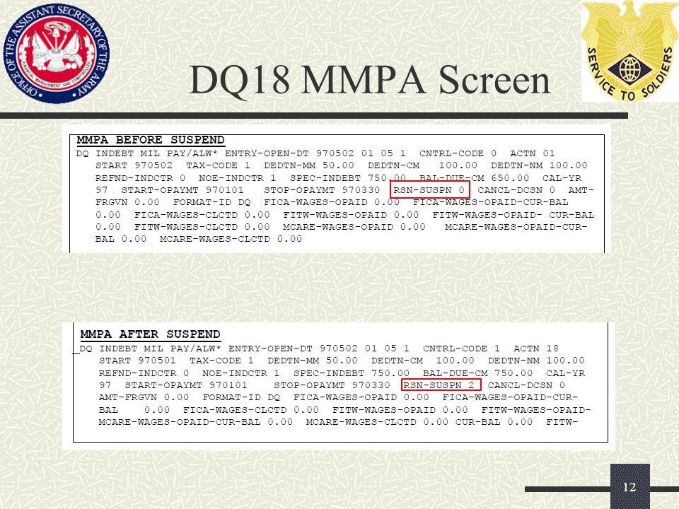 DQ18 MMPA Screen 12