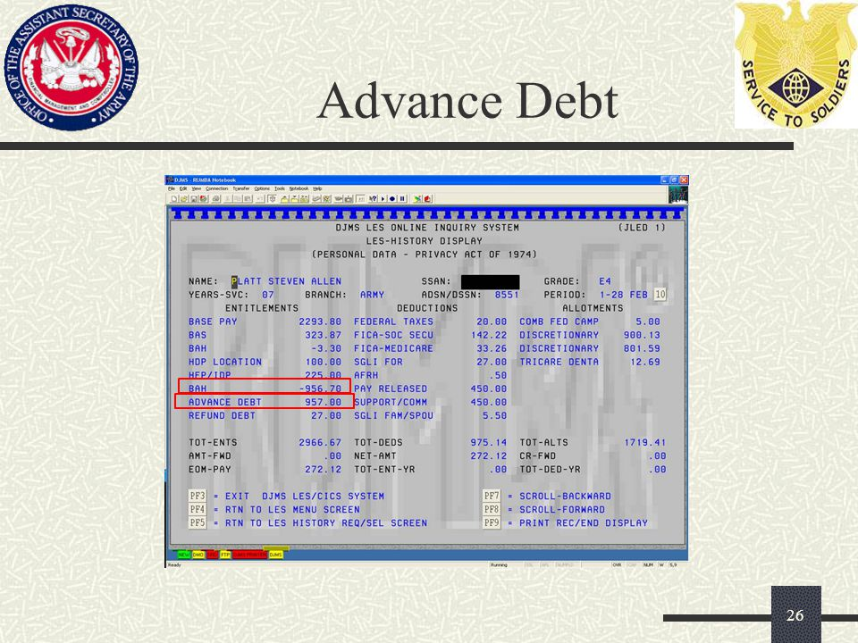 Advance Debt 26