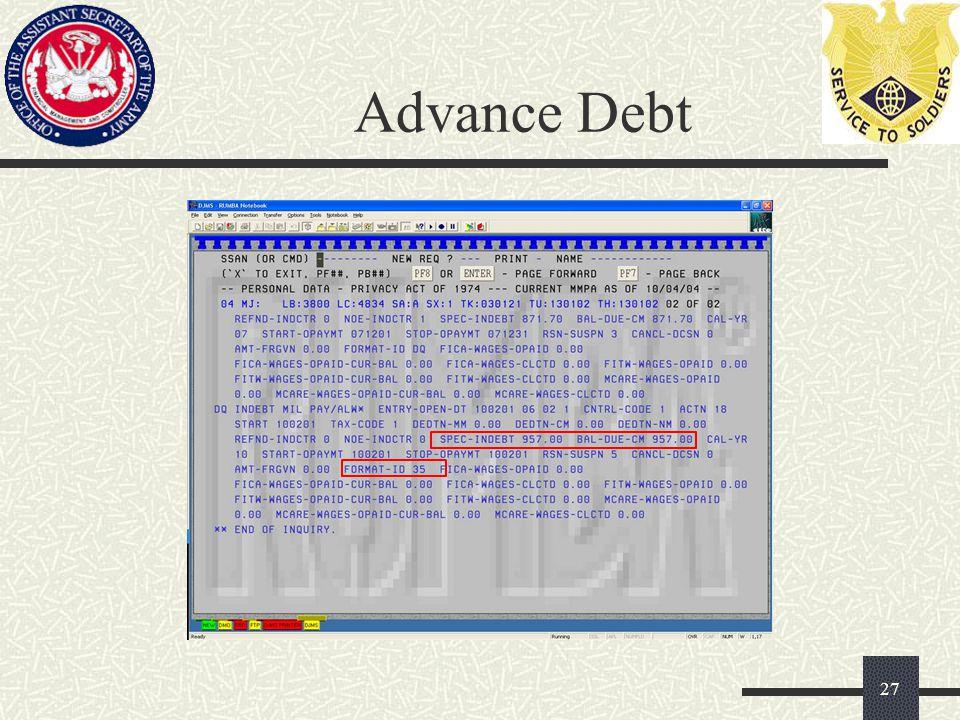Advance Debt 27