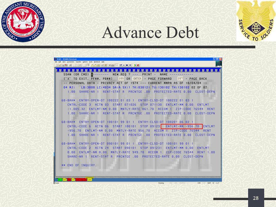 Advance Debt 28