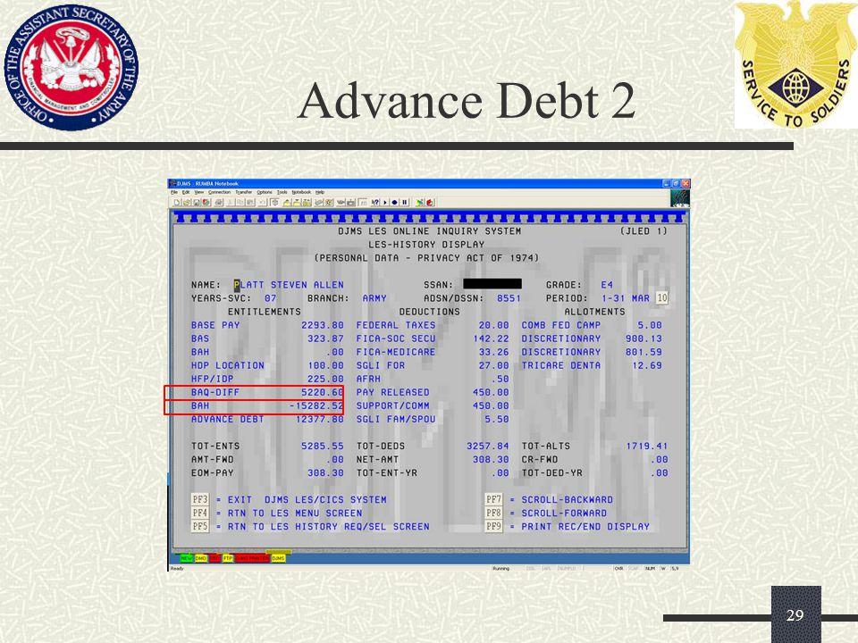 Advance Debt 2 29