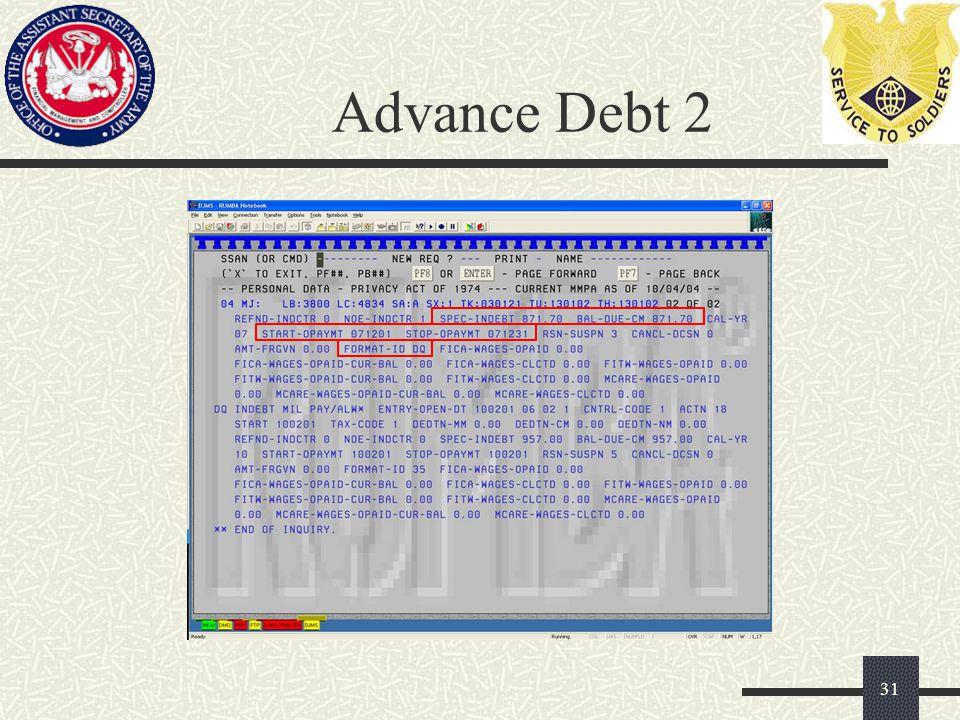 Advance Debt 2 31