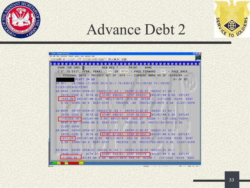Advance Debt 2 33