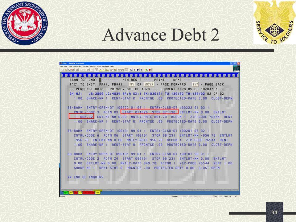 Advance Debt 2 34