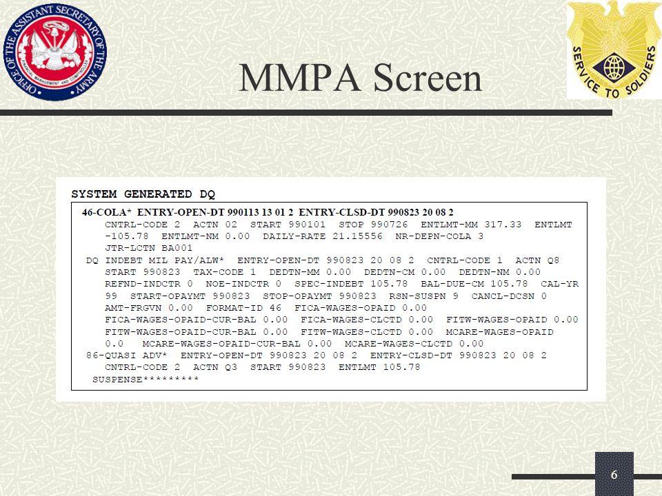 MMPA Screen 6