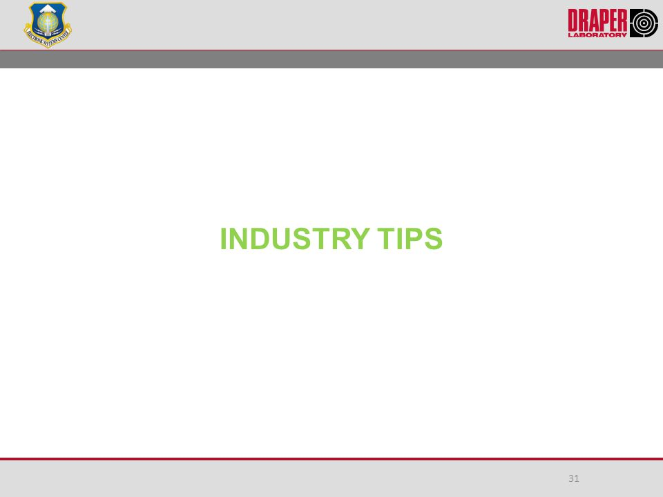 INDUSTRY TIPS 31