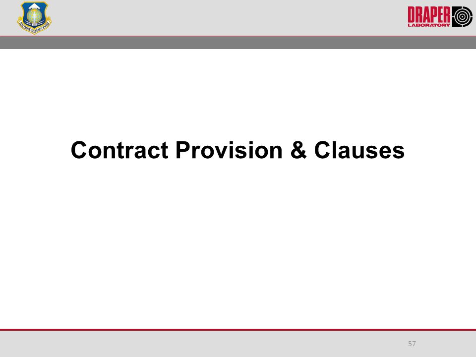 Contract Provision & Clauses 57