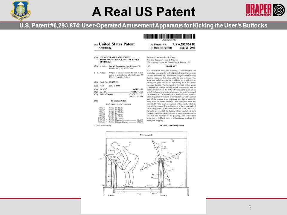 A Real US Patent U.S.