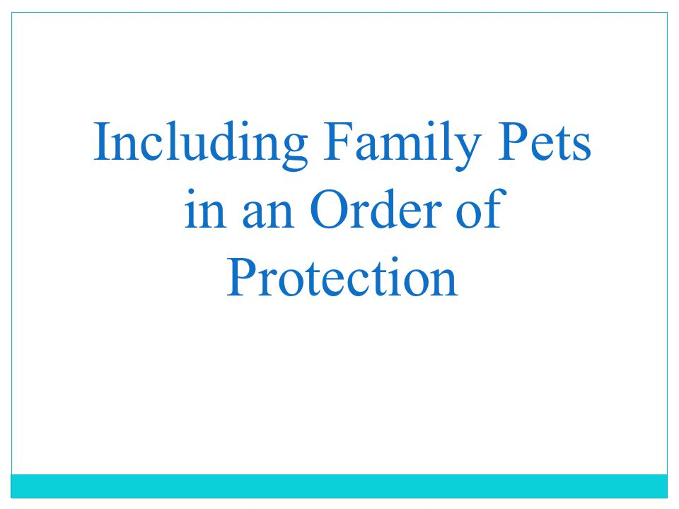 Including Family Pets in an Order of Protection