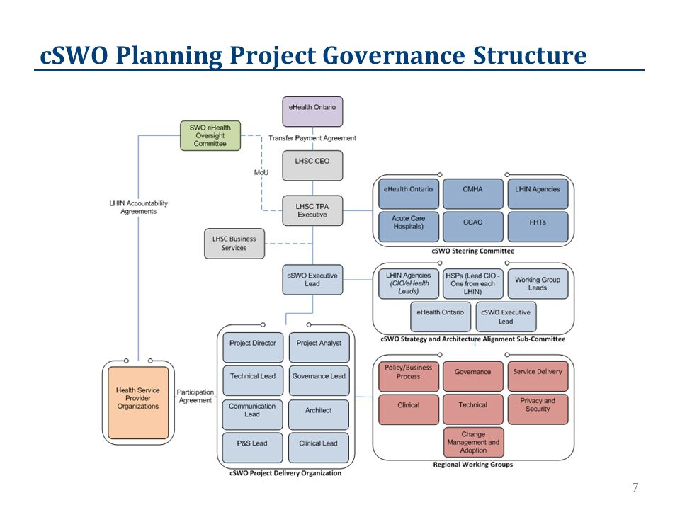 7 cSWO Planning Project Governance Structure