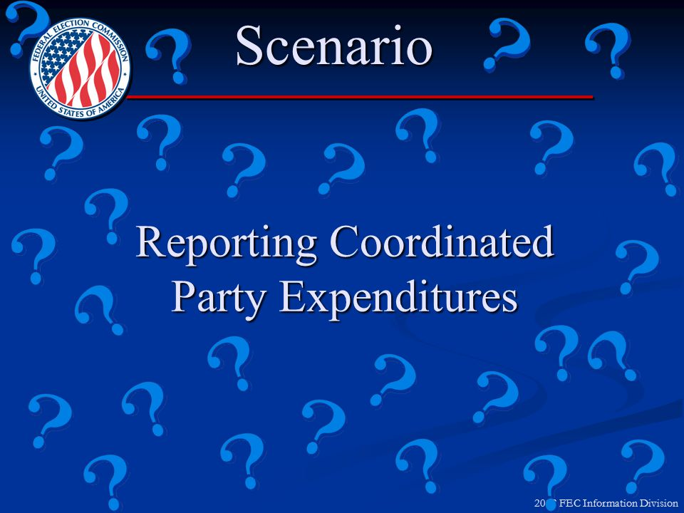 2012 FEC Information Division Disclaimer and Reporting Name of party committee paying for itName of party committee paying for it Not authorized by any candidate or candidate's committeeNot authorized by any candidate or candidate's committee Printed communications subject to disclaimer rulesPrinted communications subject to disclaimer rules Report on Schedule EReport on Schedule E