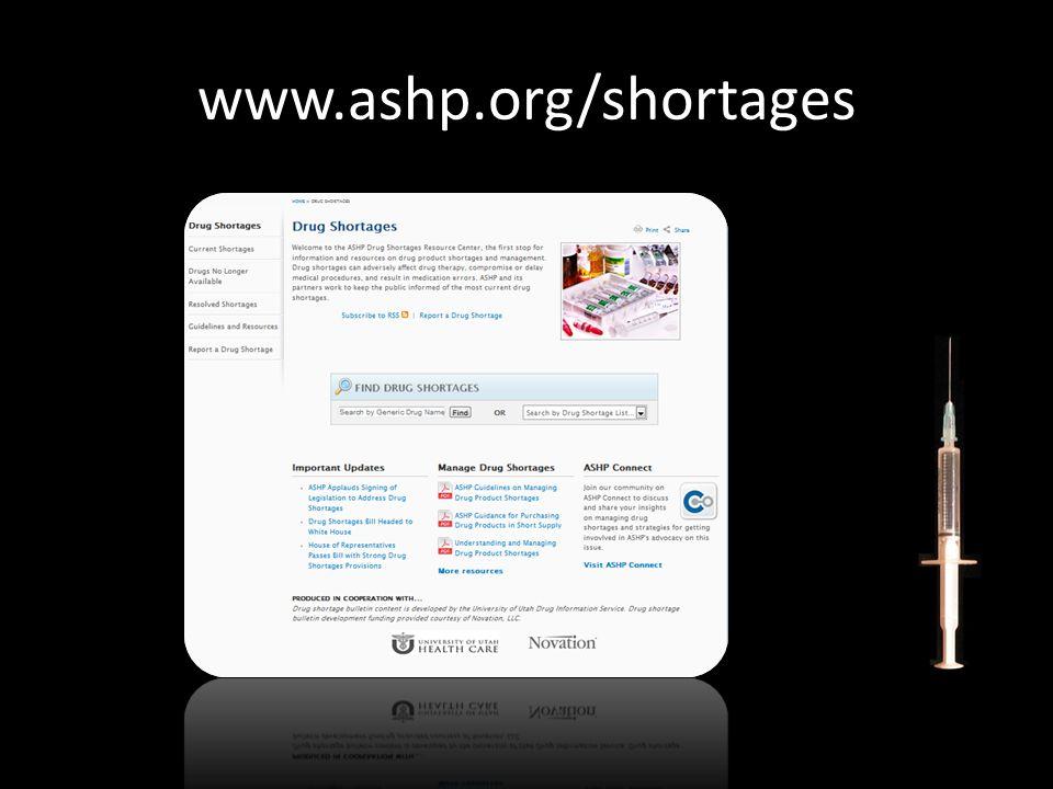 www.ashp.org/shortages