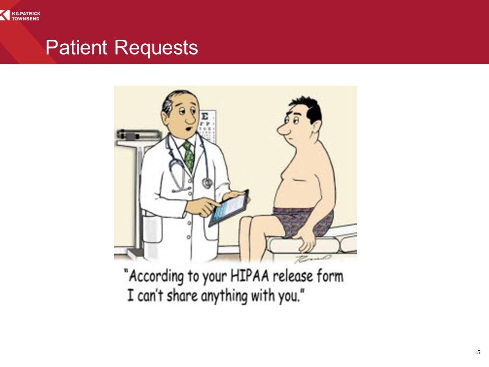 15 Patient Requests