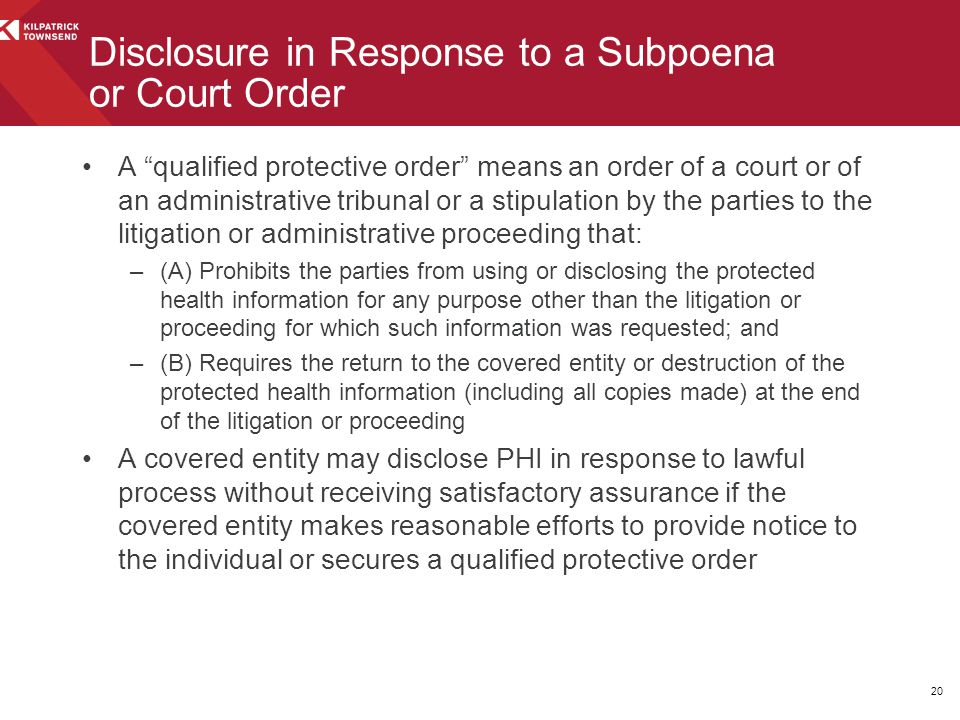 """A """"qualified protective order"""" means an order of a court or of an administrative tribunal or a stipulation by the parties to the litigation or adminis"""