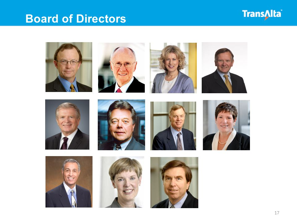 17 Board of Directors