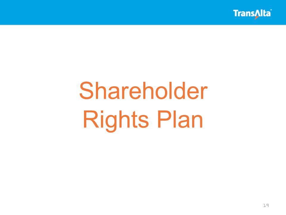 Shareholder Rights Plan 19