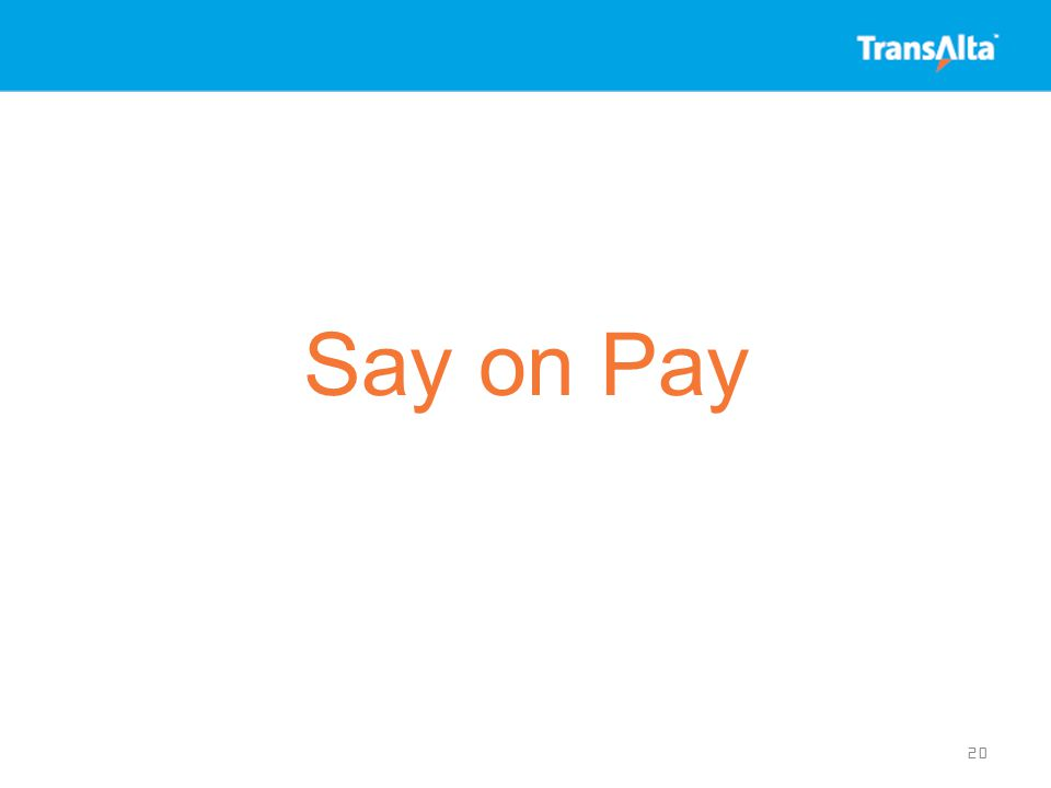 Say on Pay 20