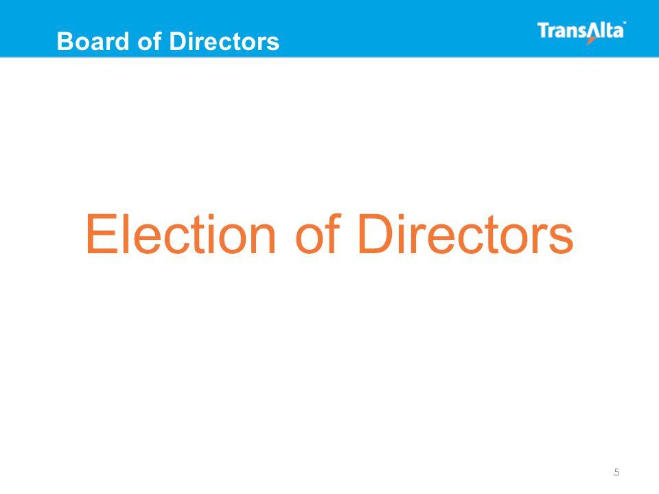 William D. Anderson Toronto, Ontario Director since 2003 6 Board of Directors