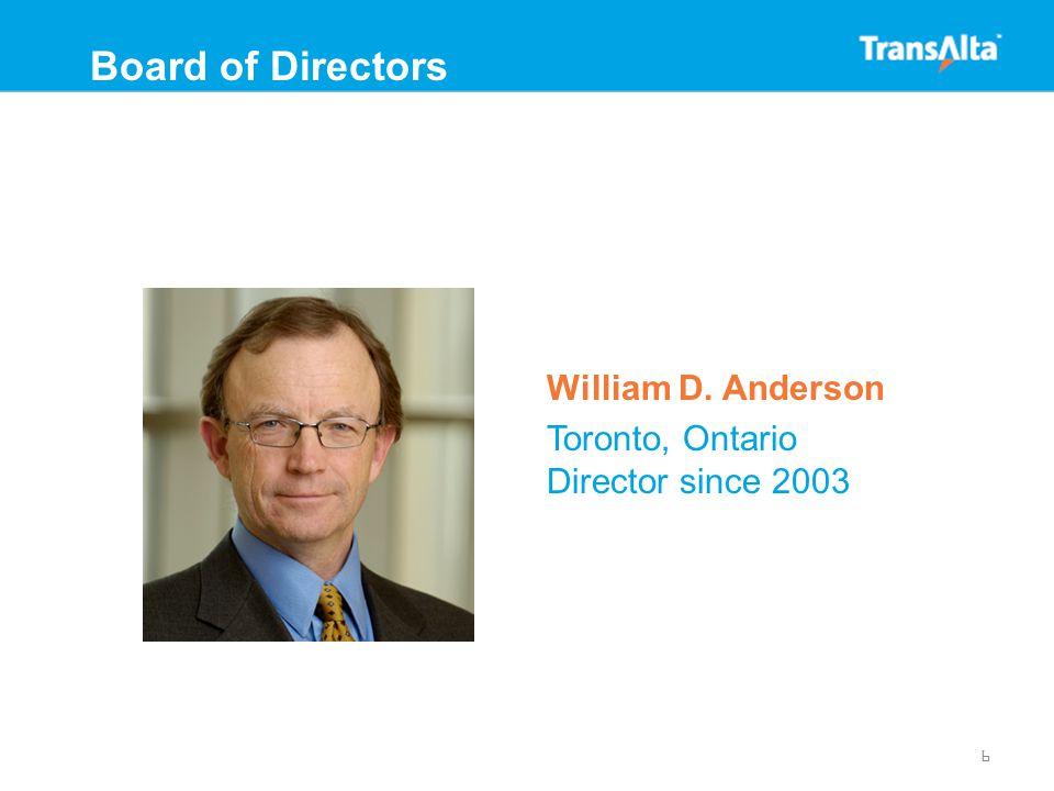 Timothy W. Faithfull Oxford, UK Director since 2003 7 Board of Directors