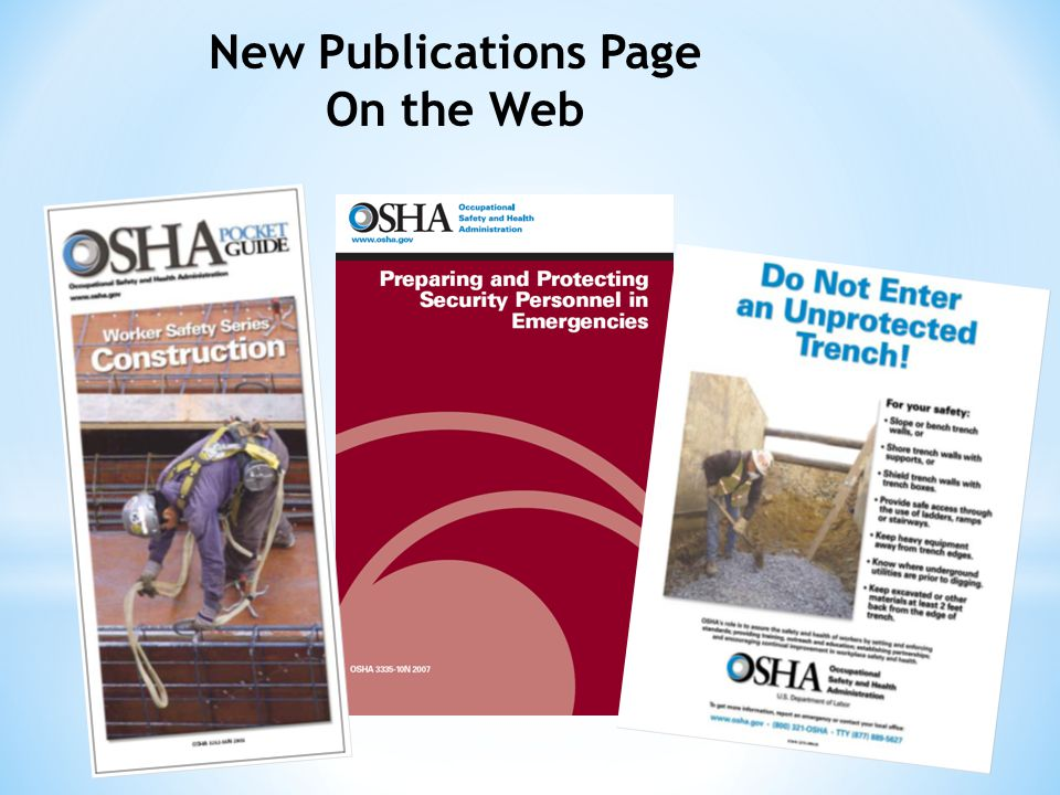 New Publications Page On the Web