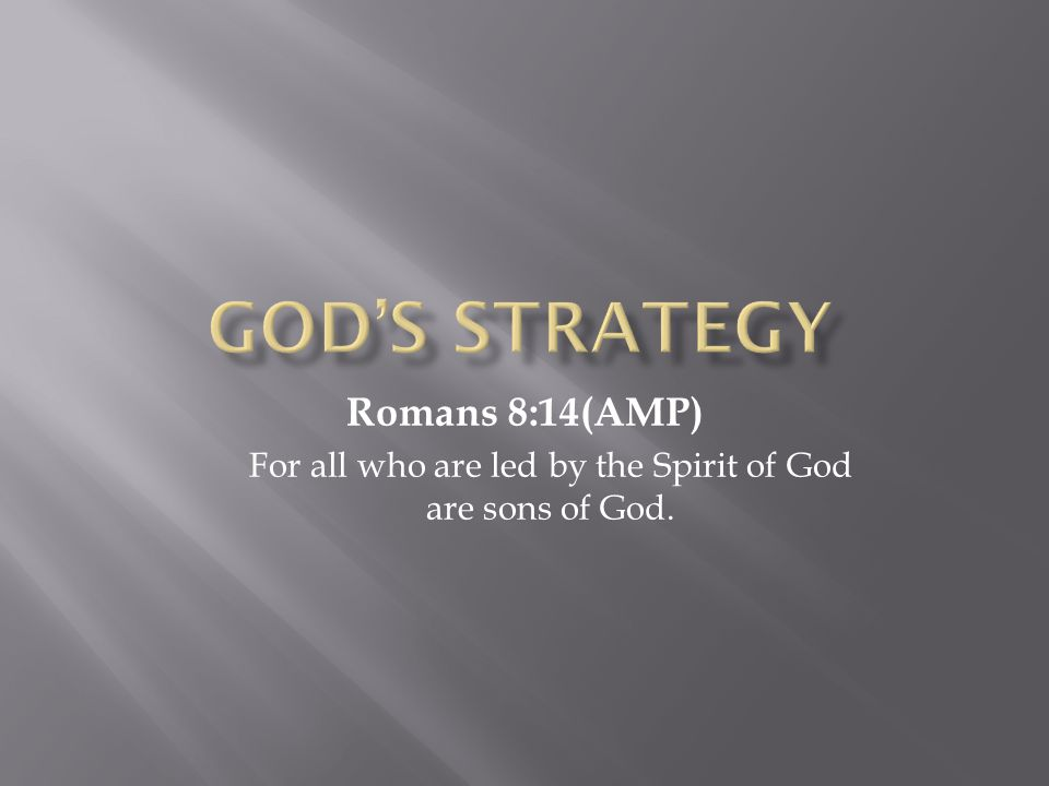 Yielding My Body  Romans 6:19(AMP)  I am speaking in familiar human terms because of your natural limitations.