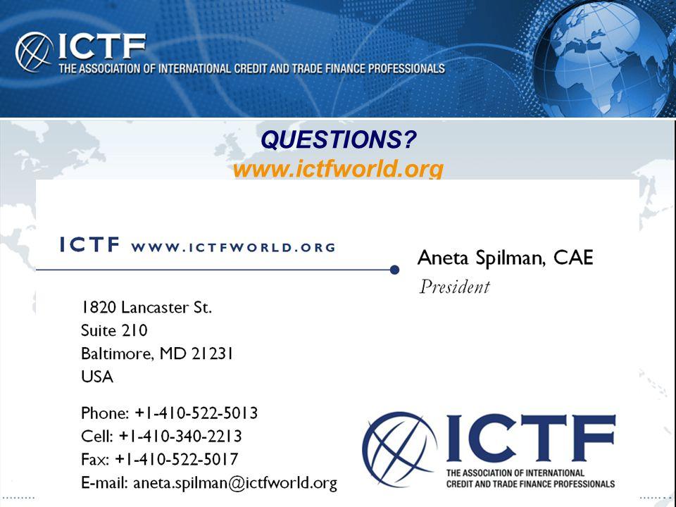 QUESTIONS? www.ictfworld.org www.ictfworld.org