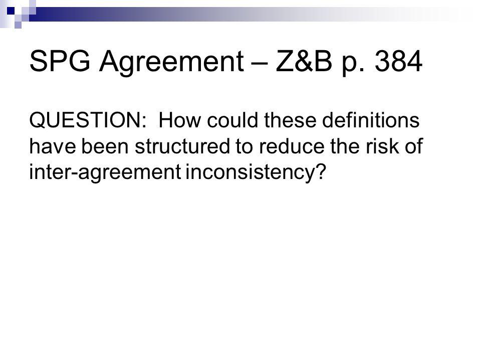 SPG Agreement – Z&B p.