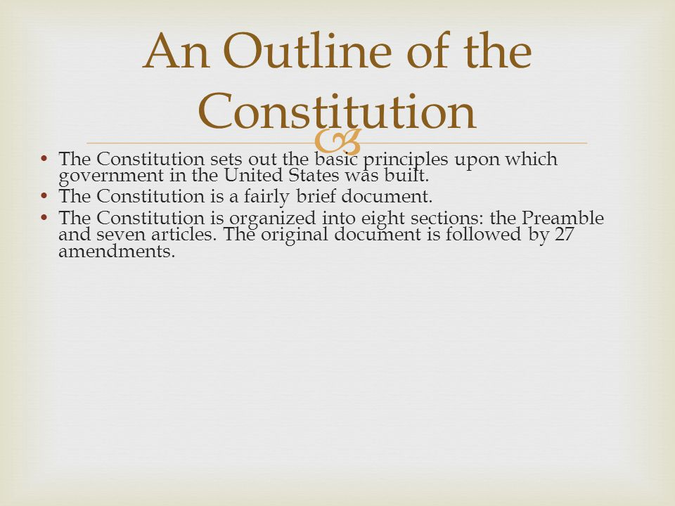  The Framers were dedicated to the concept of limited government.