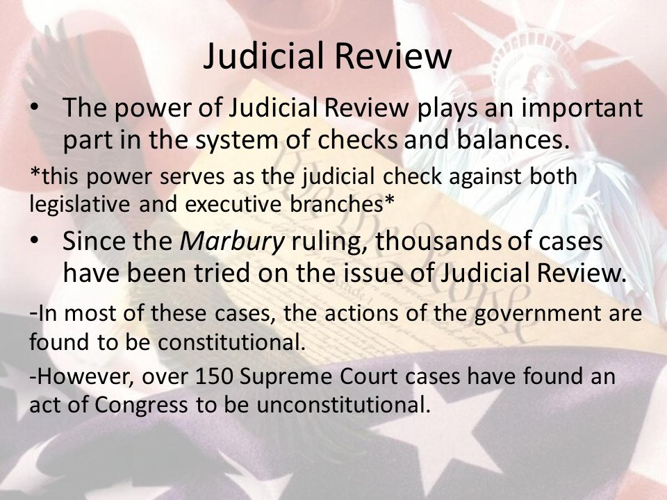 The Supremacy Clause The Constitution and the laws and treaties of the United States are the Supreme Law of the Land.