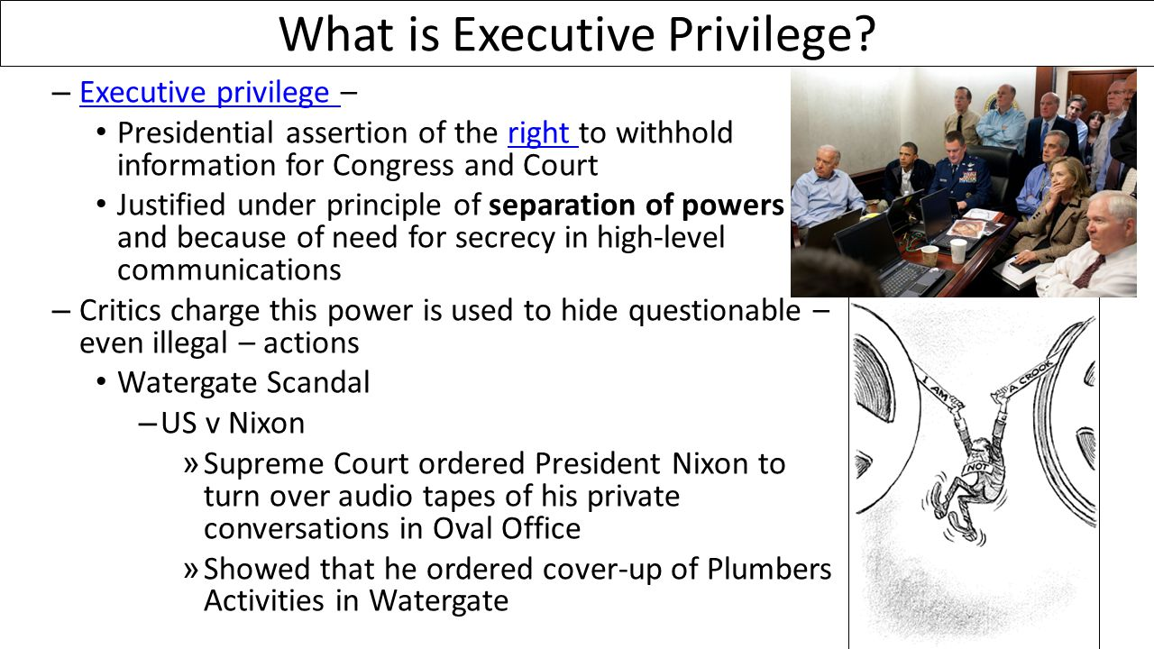 What is Executive Privilege.