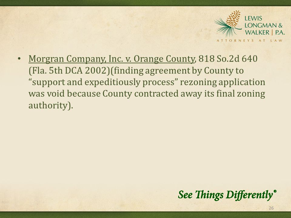 Morgran Company, Inc. v. Orange County, 818 So.2d 640 (Fla.
