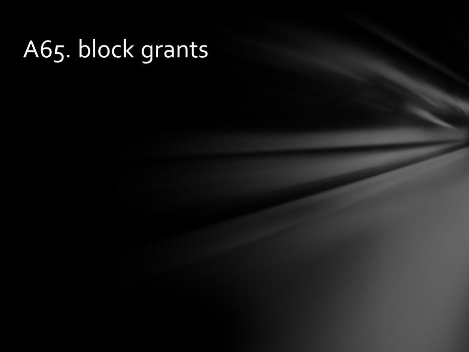 A65. block grants
