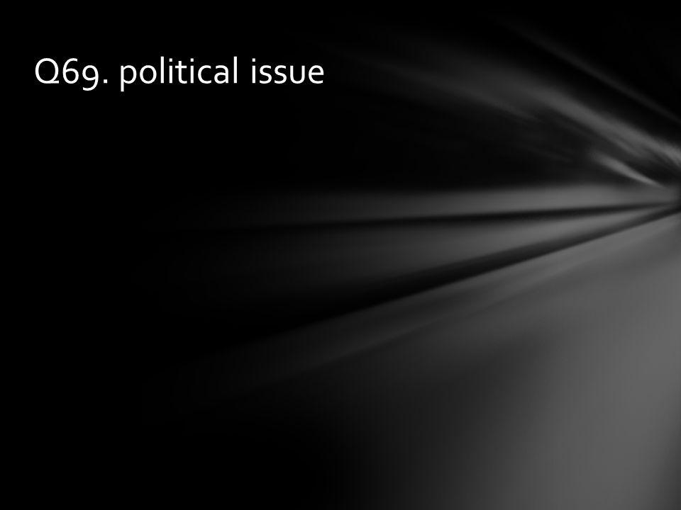 Q69. political issue