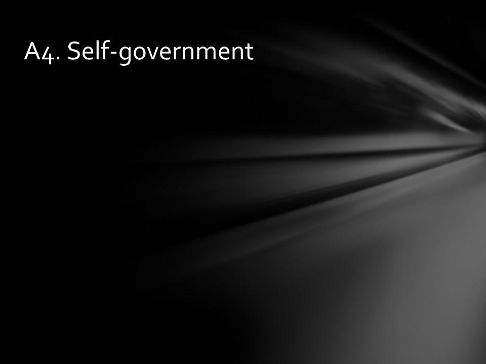 A4. Self-government