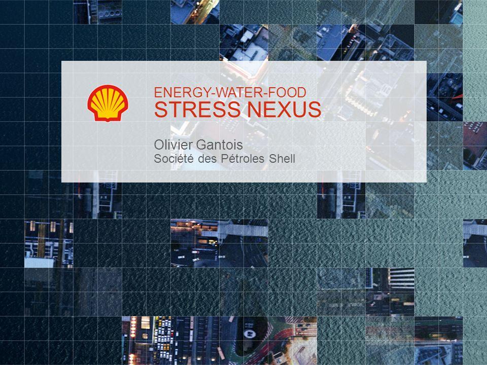 STRESS NEXUS Olivier Gantois Société des Pétroles Shell ENERGY-WATER-FOOD