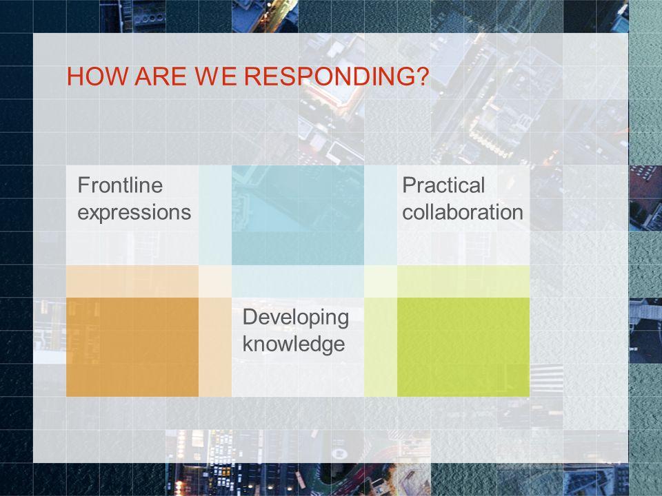 HOW ARE WE RESPONDING? Frontline expressions Raizen Groundbirc h