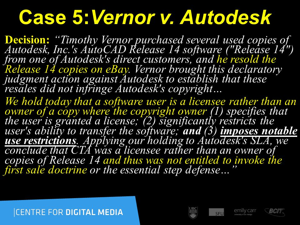Case 5:Vernor v.