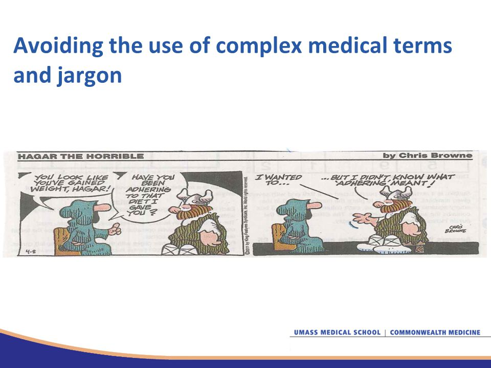 Avoiding the use of complex medical terms and jargon