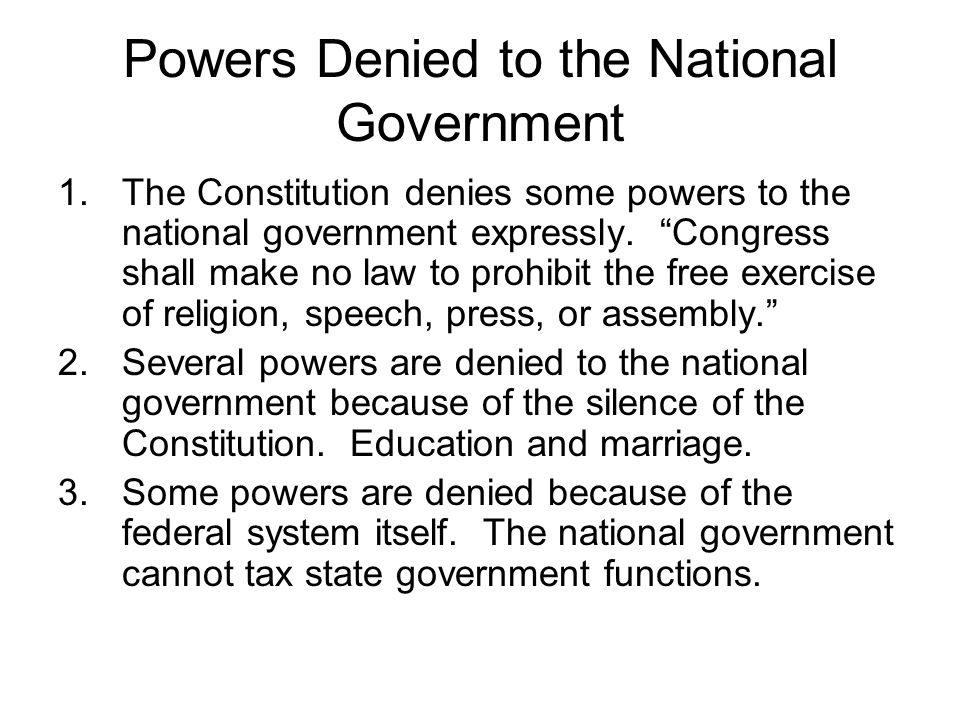 The States States draw their power from the 10 th amendment.