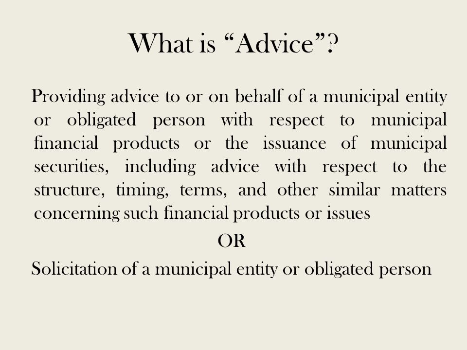 What is Advice .