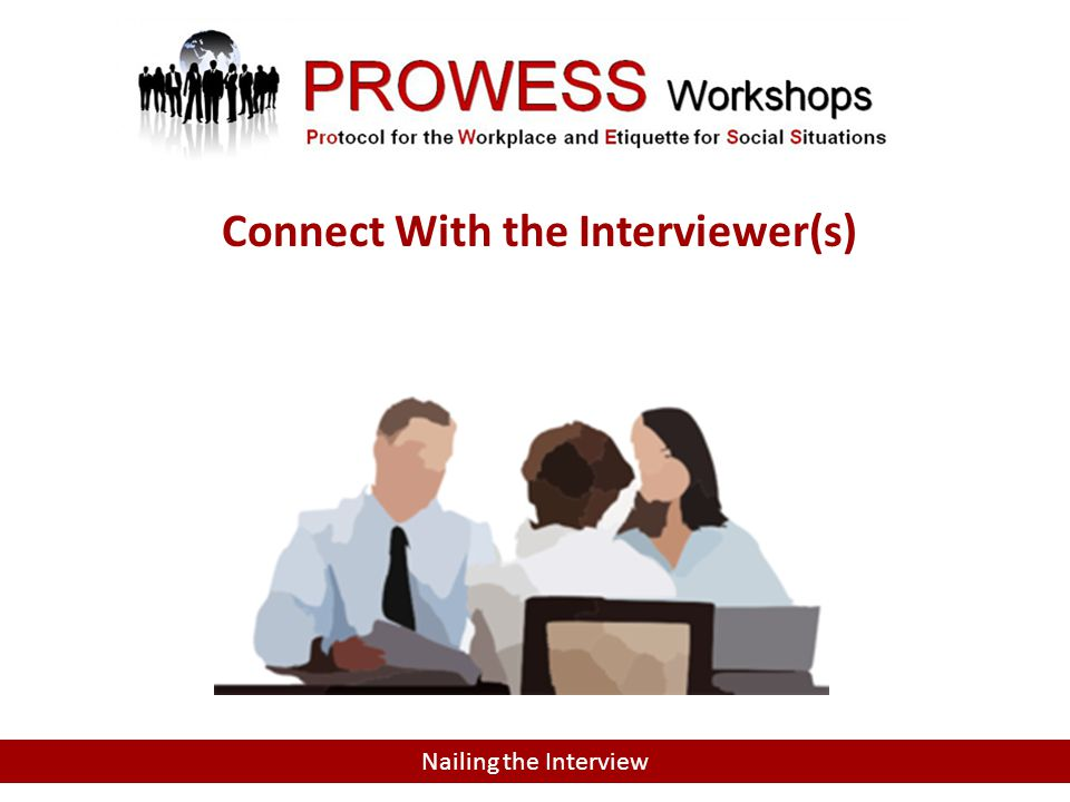 Connect With the Interviewer(s)