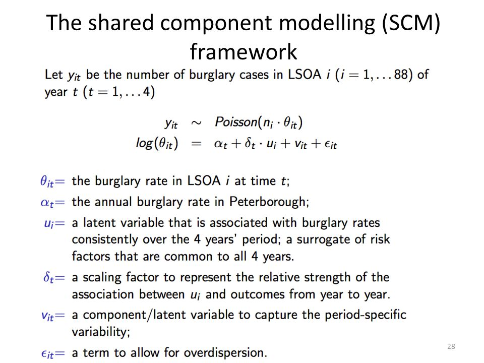 The shared component modelling (SCM) framework 28