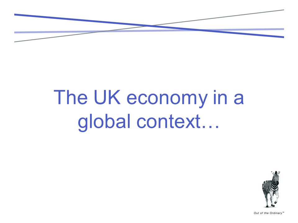 The UK economy in a global context…