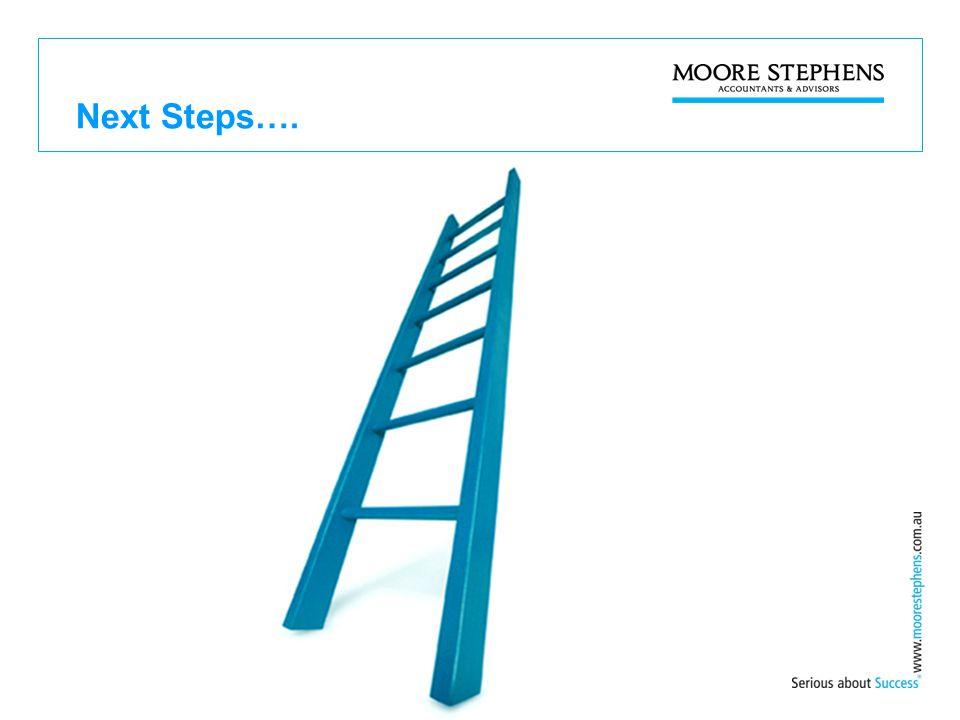 Next Steps….