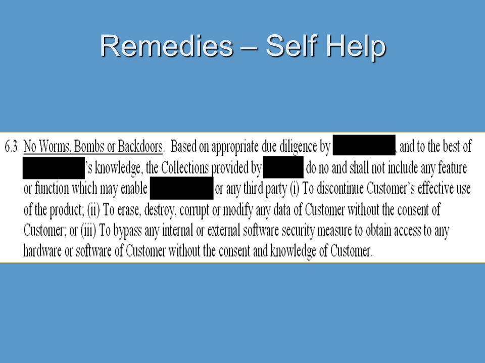 Remedies – Self Help