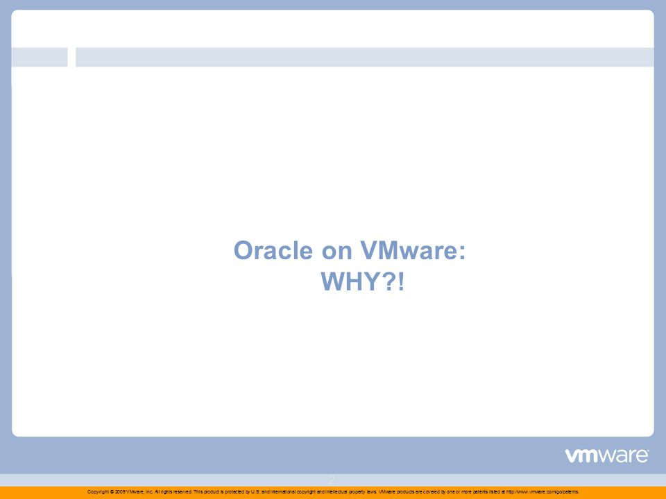 Oracle on VMware Jesús Fernández VMware Spain Diciembre 2009 (Yes you can)