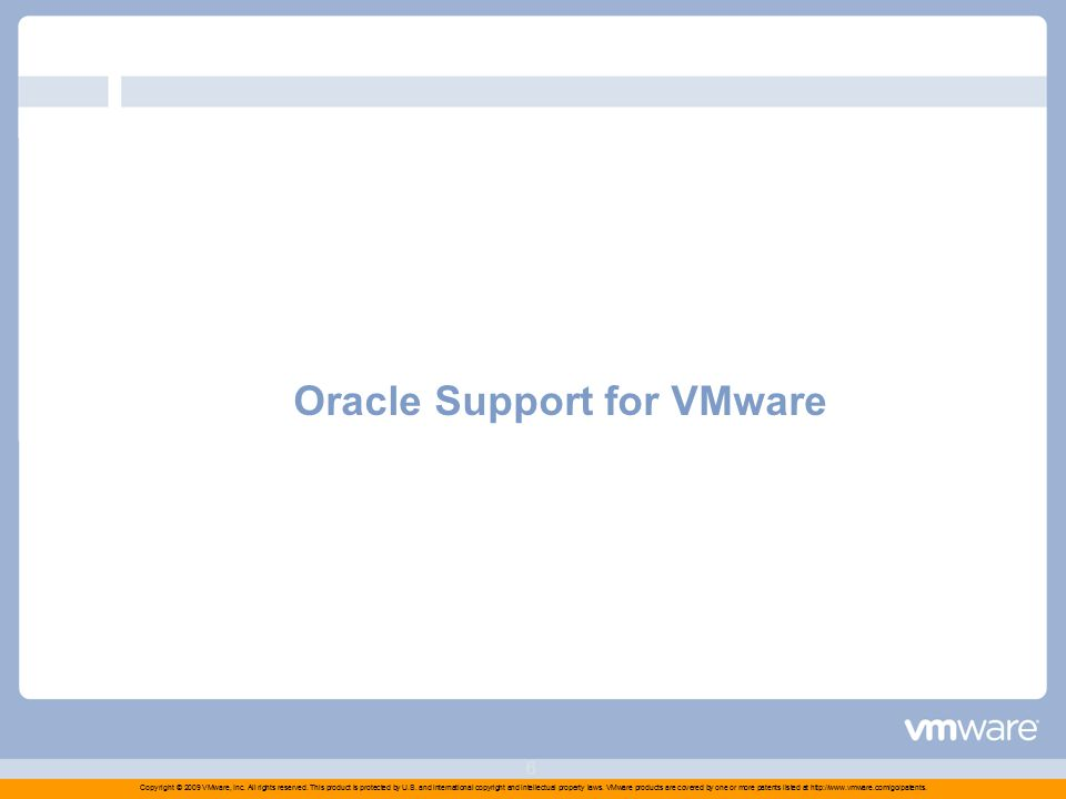 Copyright © 2009 VMware, Inc. All rights reserved.