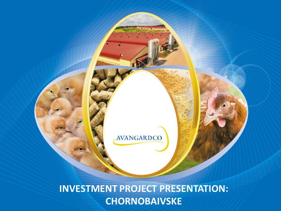 INVESTMENT PROJECT PRESENTATION: CHORNOBAIVSKE