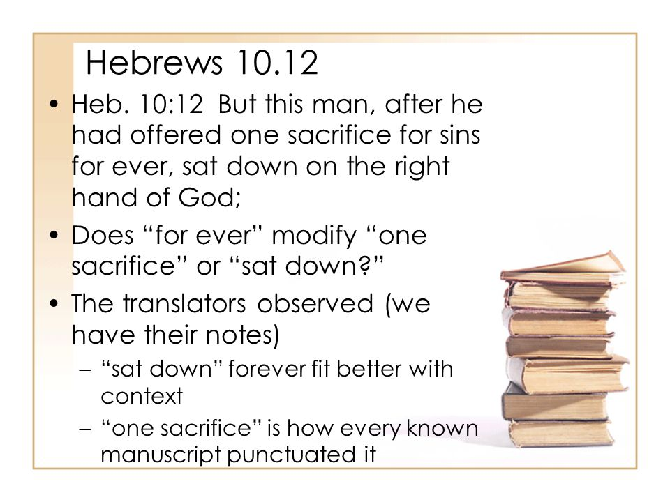 Hebrews 10.12 Heb.